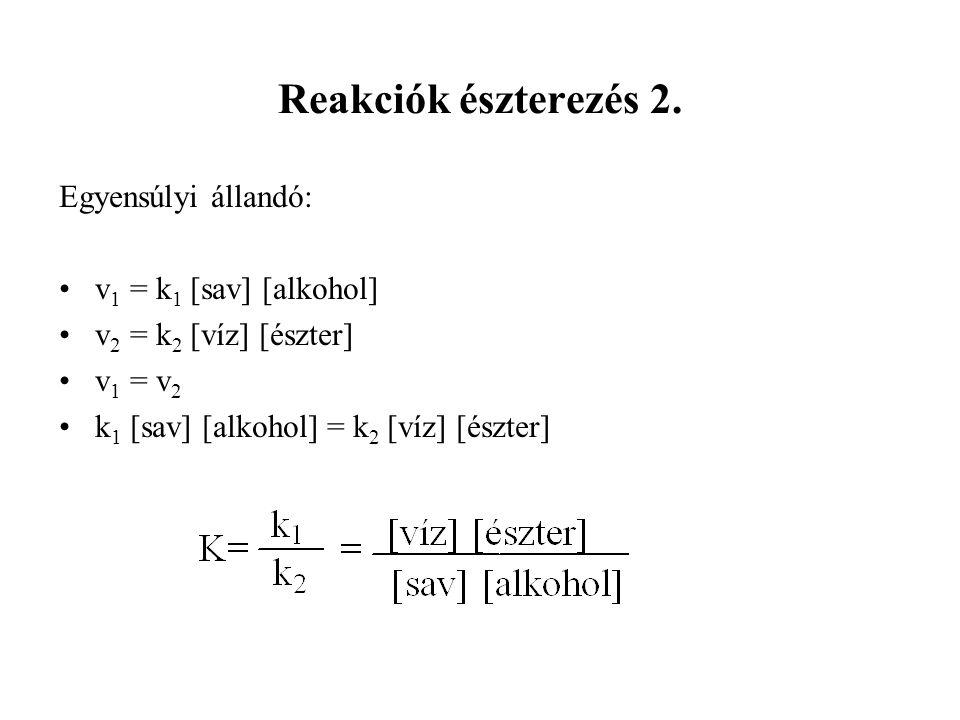 Reakciók észterezés 2.