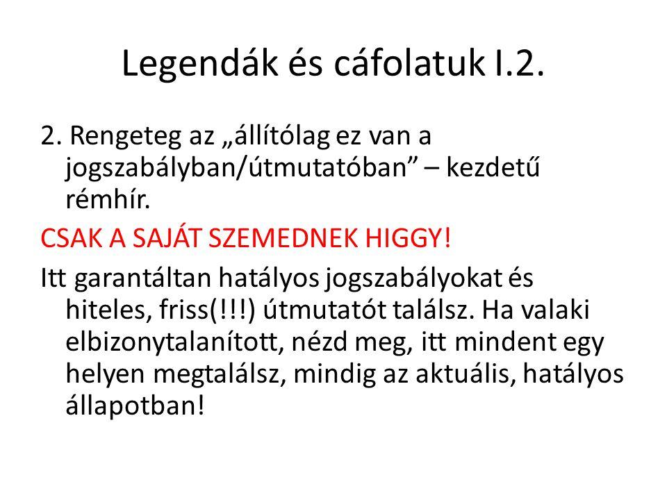 Legendák és cáfolatuk I.2.2.