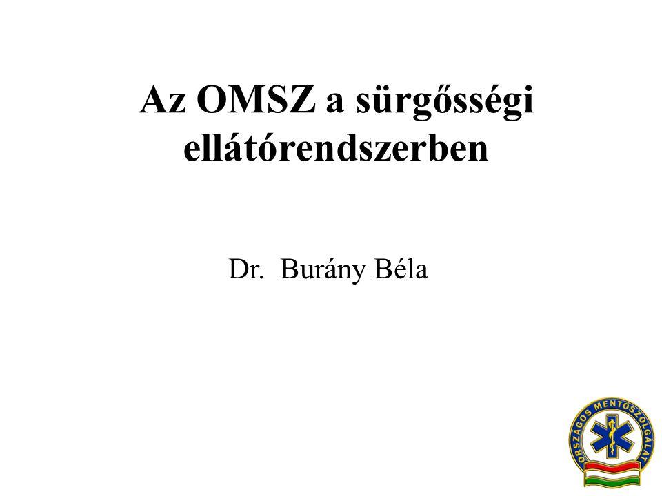 Az OMSZ a sürgősségi ellátórendszerben Dr. Burány Béla