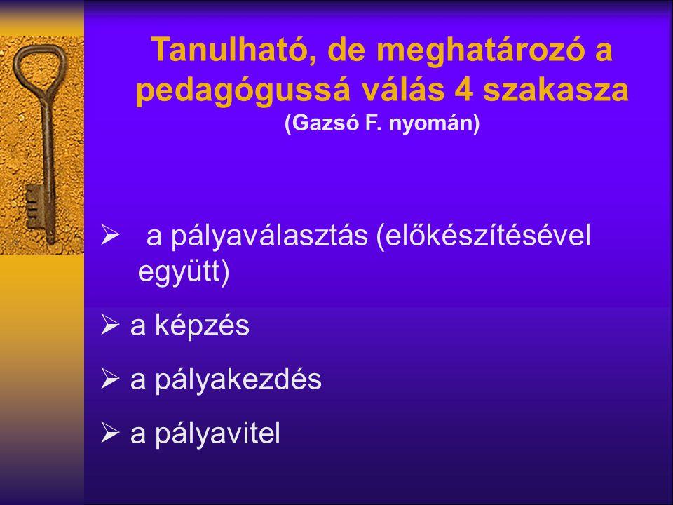 Tanulható, de meghatározó a pedagógussá válás 4 szakasza (Gazsó F.