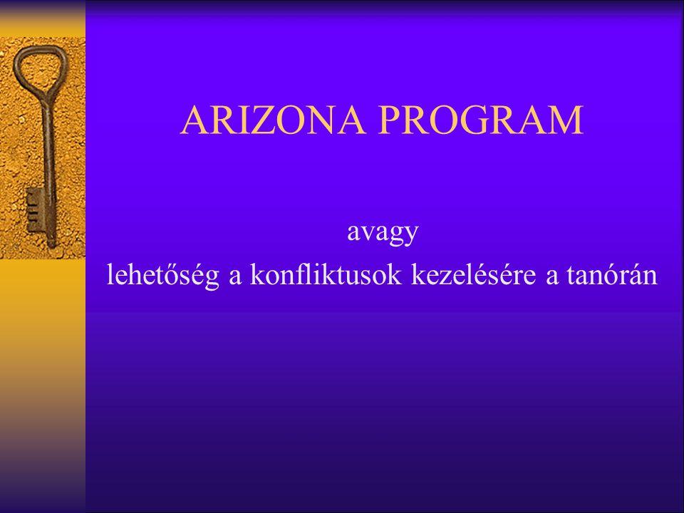 ARIZONA PROGRAM avagy lehetőség a konfliktusok kezelésére a tanórán