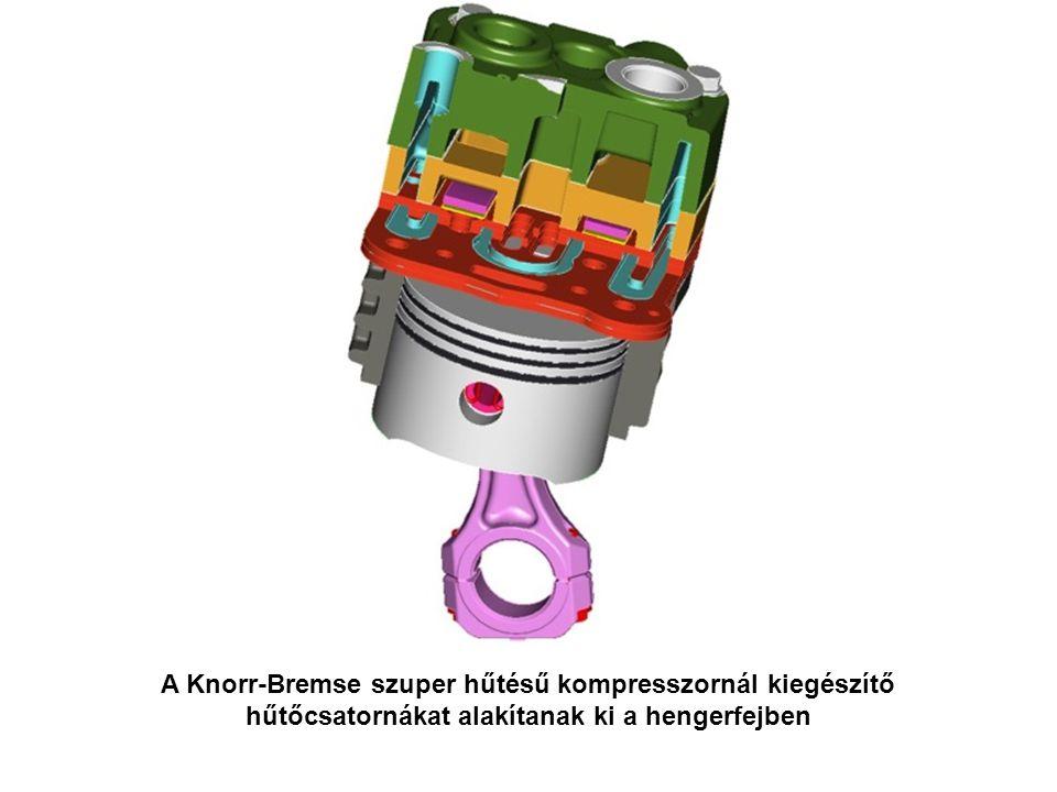 A Knorr-Bremse szuper hűtésű kompresszornál kiegészítő hűtőcsatornákat alakítanak ki a hengerfejben