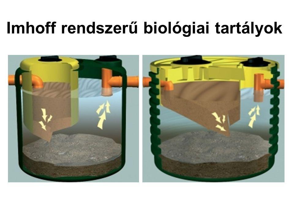 Imhoff rendszerű biológiai tartályok