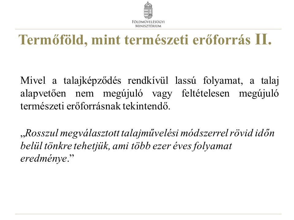 Magyarország területének megoszlása művelési ágak szerint 2014. 4