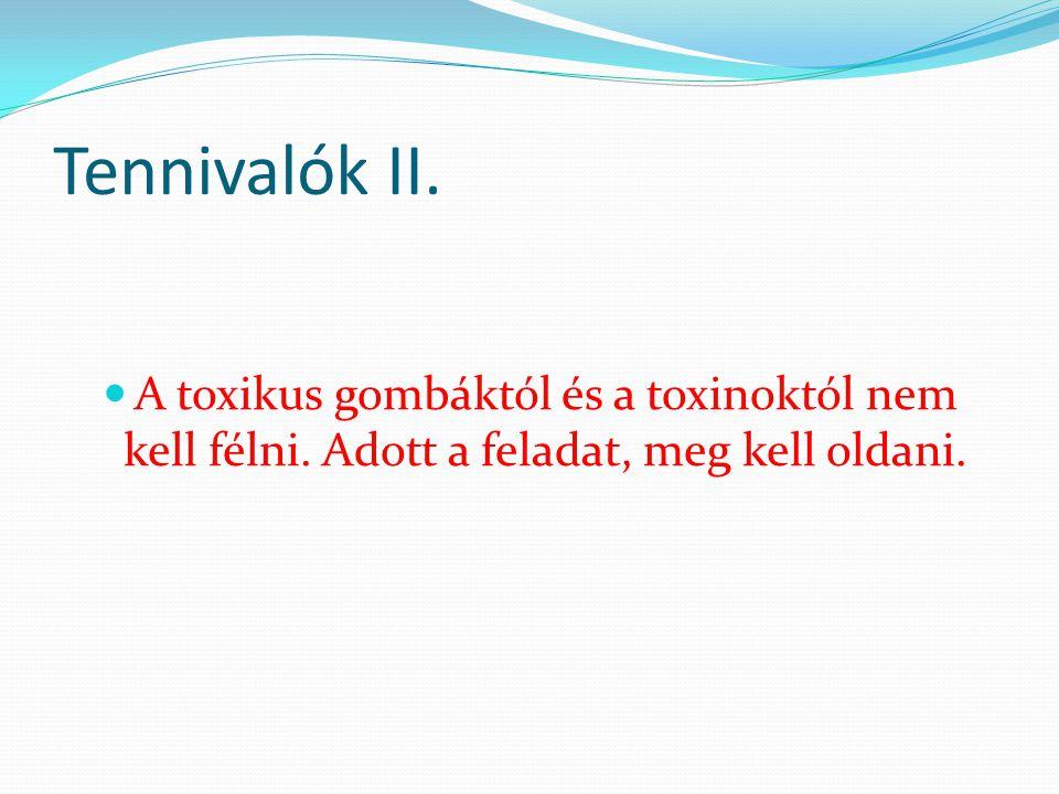 Tennivalók II. A toxikus gombáktól és a toxinoktól nem kell félni.