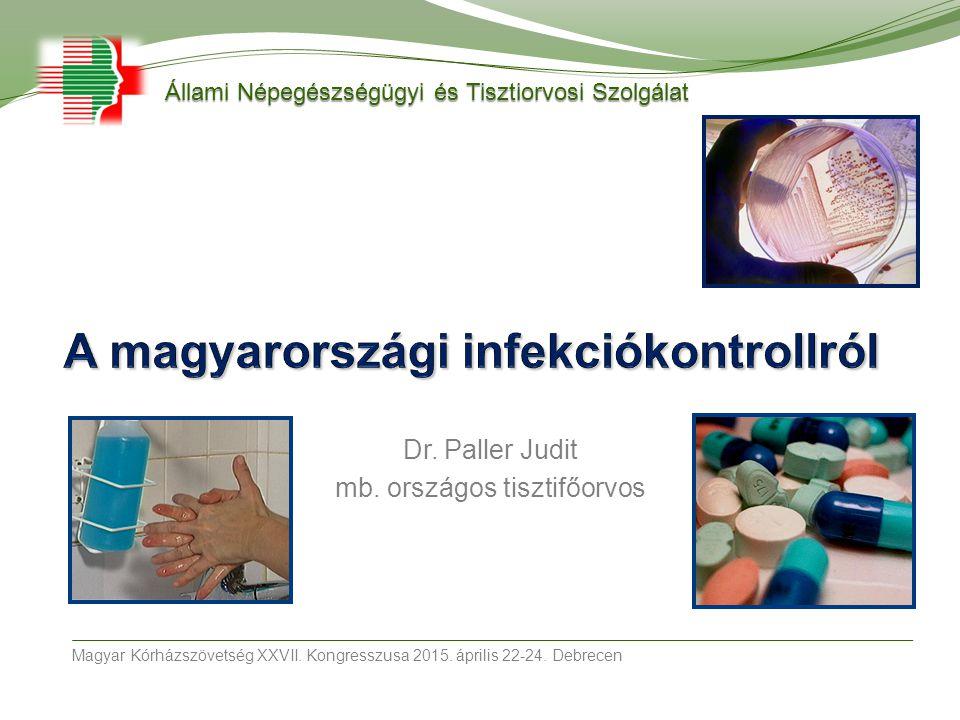 Dr. Paller Judit mb. országos tisztifőorvos Magyar Kórházszövetség XXVII. Kongresszusa 2015. április 22-24. Debrecen Állami Népegészségügyi és Tisztio