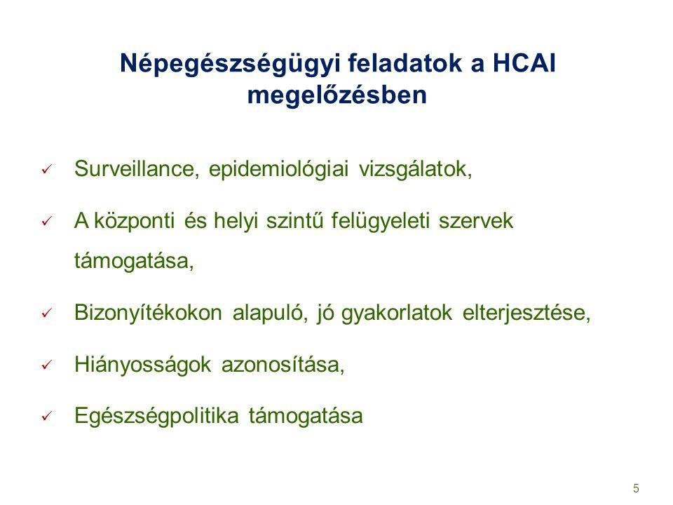 Népegészségügyi feladatok a HCAI megelőzésben Surveillance, epidemiológiai vizsgálatok, A központi és helyi szintű felügyeleti szervek támogatása, Biz
