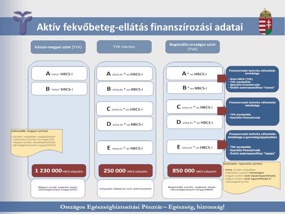 Országos Egészségbiztosítási Pénztár – Egészség, biztonság! Aktív fekvőbeteg-ellátás finanszírozási adatai