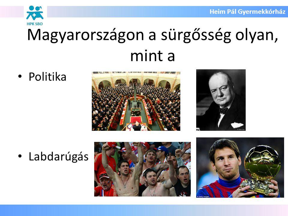 Heim Pál Gyermekkórház Magyarországon a sürgősség olyan, mint a Politika Labdarúgás