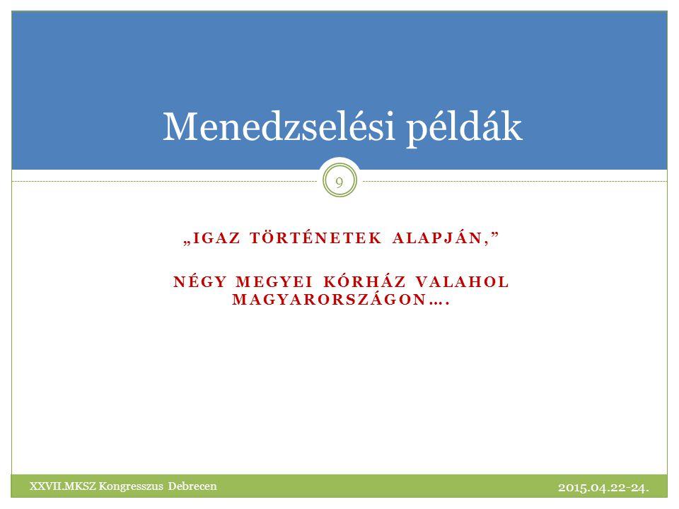 Köszönöm a megtisztelő figyelmet! 2015.04.22-24. 30 XXVII.MKSZ Kongresszus Debrecen