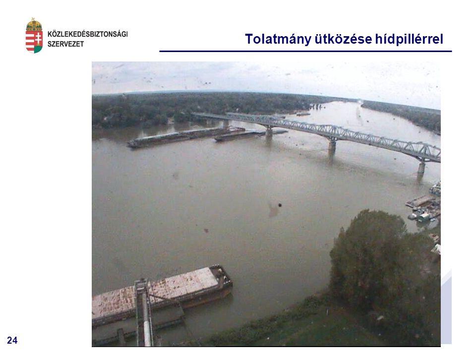 24 Tolatmány ütközése hídpillérrel