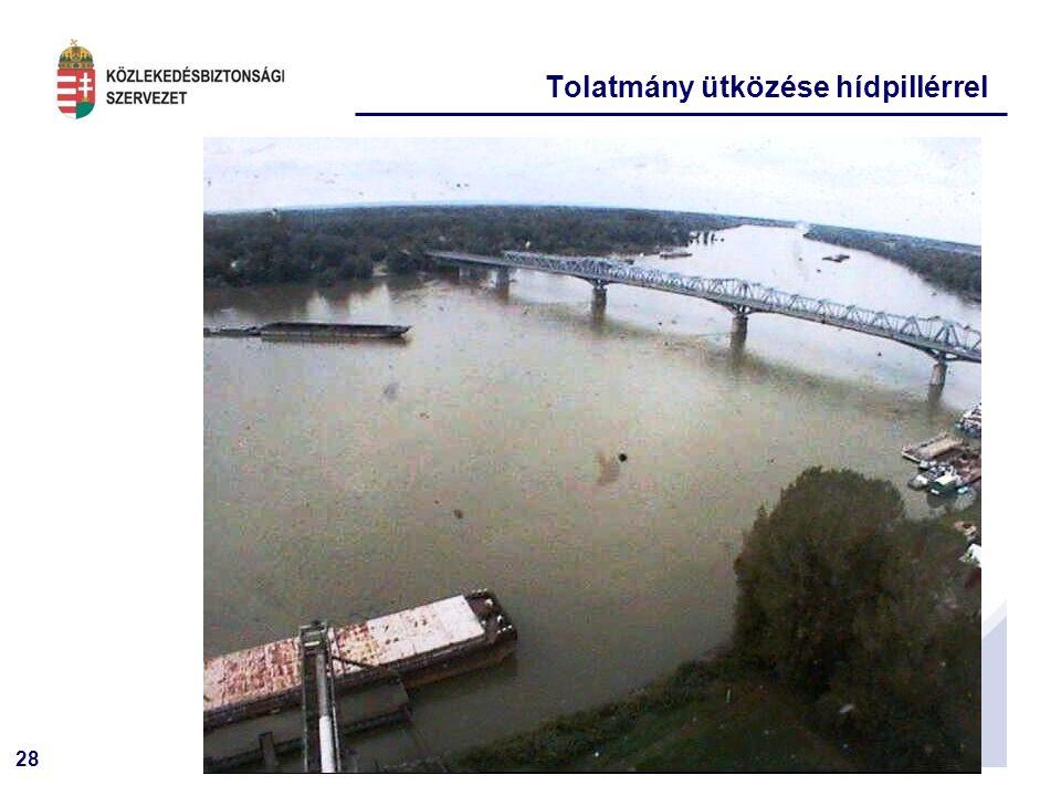 28 Tolatmány ütközése hídpillérrel