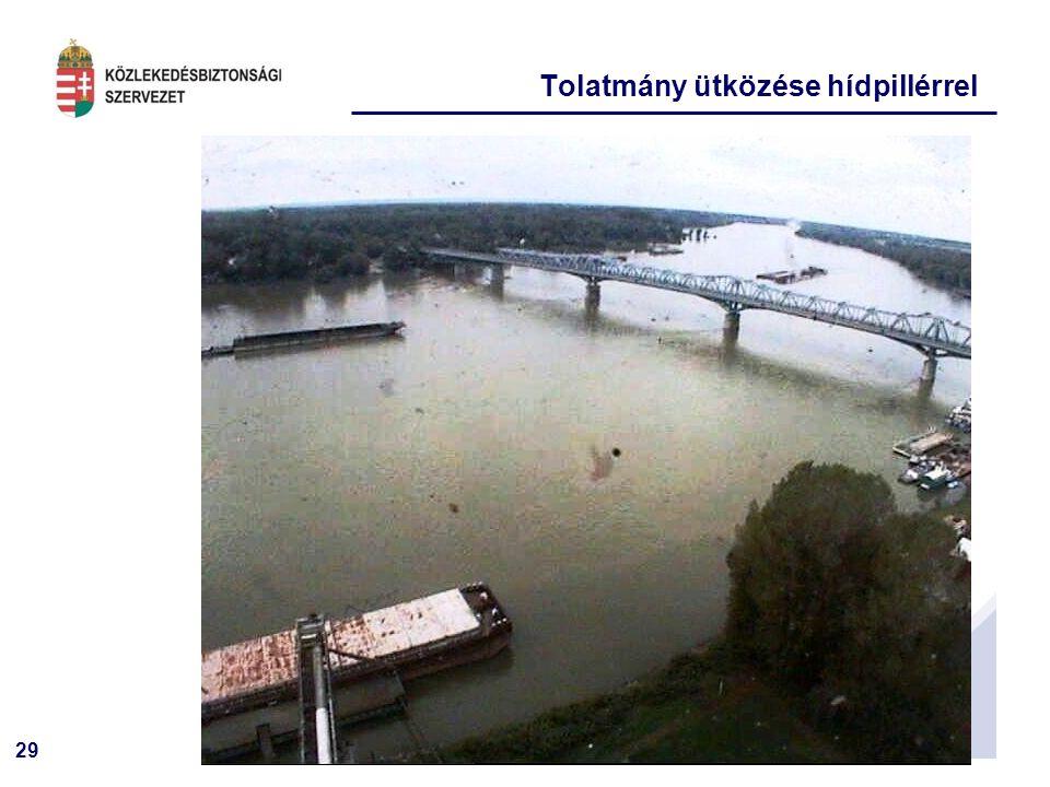 29 Tolatmány ütközése hídpillérrel