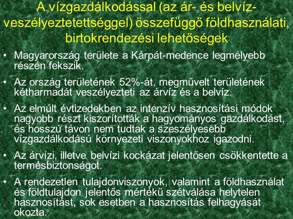 Magyarország területe a Kárpát-medence legmélyebb részén fekszik. Az ország területének 52%-át, megművelt területének kétharmadát veszélyezteti az árv