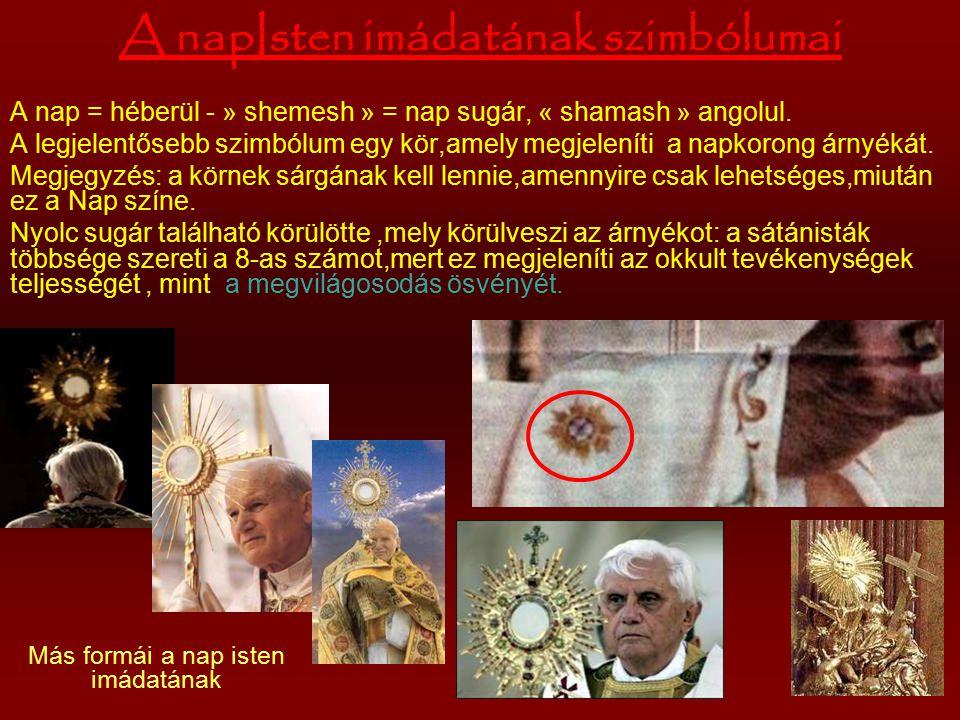 A fordított kereszt Úgy használják,mint az istenkáromlás Jézus Krisztus és a kereszténység megtagadásának szimbolumát.