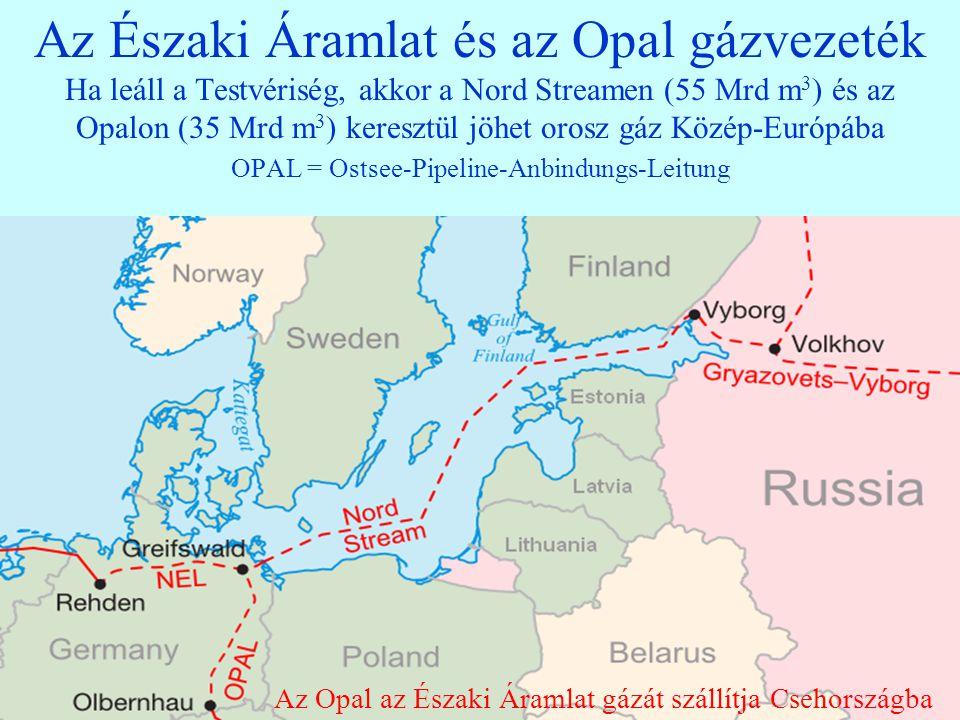 11 Európa legfontosabb gázvezetékei (Nyugaton hurkolt hálózatok, verseny; Keleten sugaras, HTM) Északi Á.