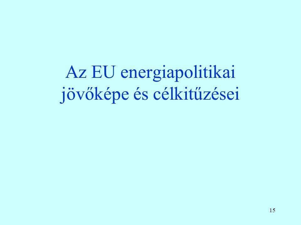 Az európai földgáz import forrásai, 2010-2013 A sok gond dacára nőtt az orosz gázimport részaránya 14 Orosz gáz LNG Déli korridor Észak-Afrika Orosz Ukrajnán át Orosz egyéb úton