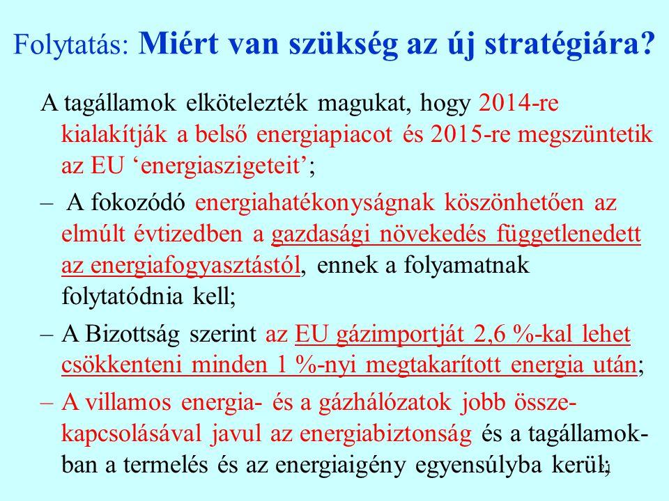 20 Az Európai Parlament új Ellátás-biztonsági Stratégiája (fókuszban a gáz, 2014.