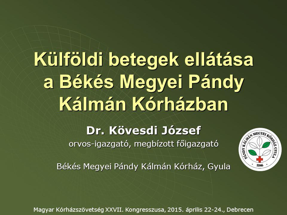 Külföldi betegek ellátása a Békés Megyei Pándy Kálmán Kórházban Dr.