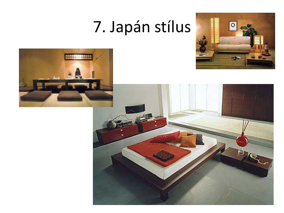 7. Japán stílus