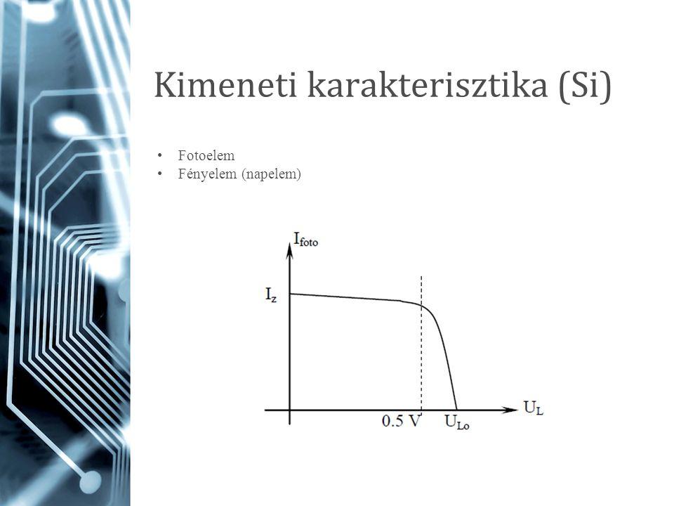 Kimeneti karakterisztika (Si) Fotoelem Fényelem (napelem)