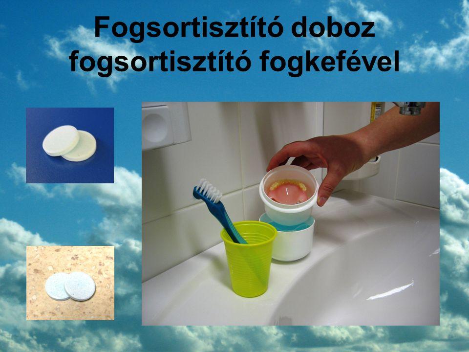 Fogsortisztító doboz fogsortisztító fogkefével
