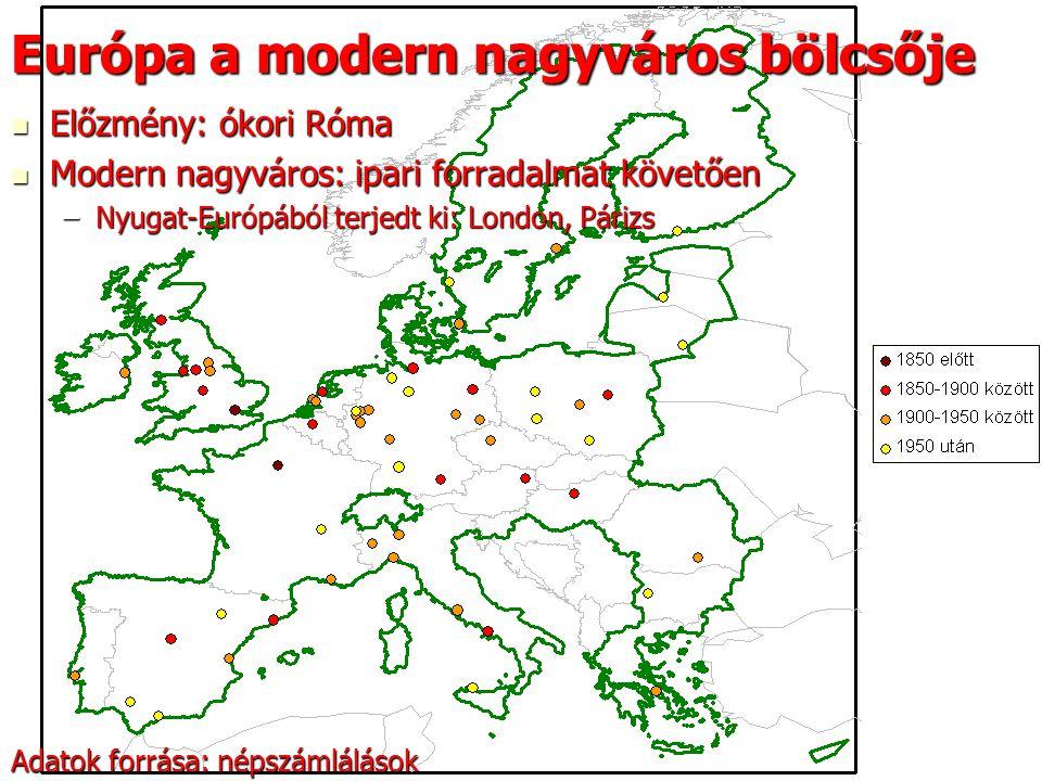 19 Európa a modern nagyváros bölcsője Előzmény: ókori Róma Előzmény: ókori Róma Modern nagyváros: ipari forradalmat követően Modern nagyváros: ipari f