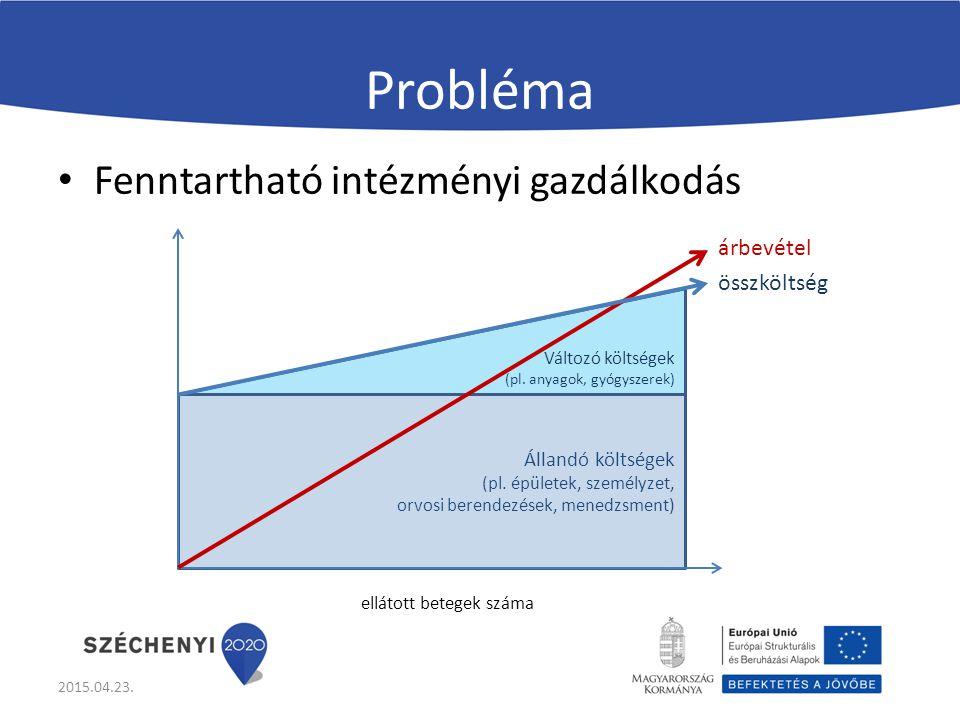 Probléma Fenntartható intézményi gazdálkodás 2015.04.23.