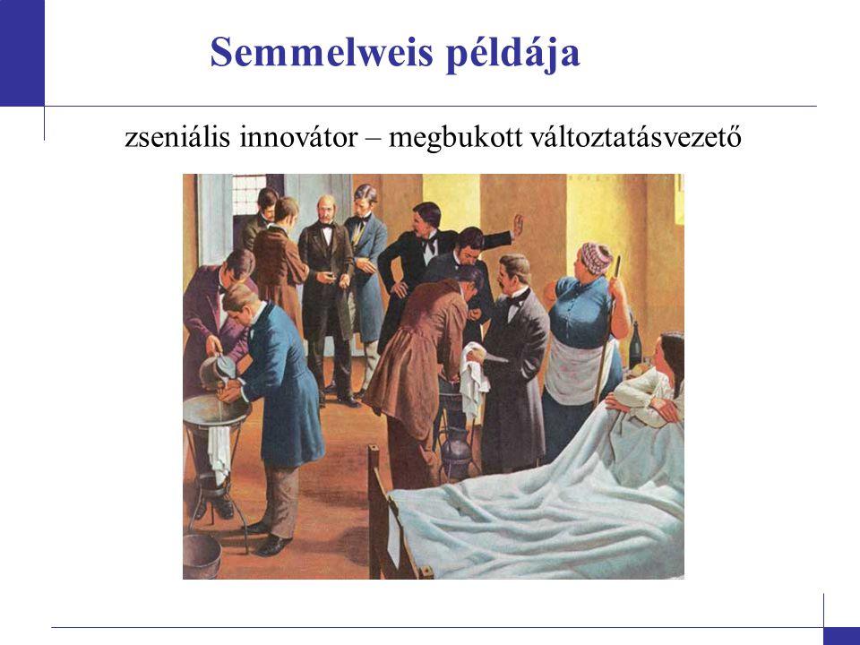 Semmelweis példája zseniális innovátor – megbukott változtatásvezető