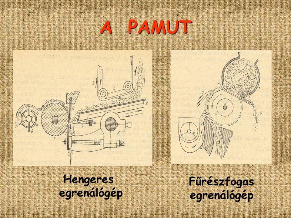 A PAMUT Hengeres egrenálógép Fűrészfogas egrenálógép