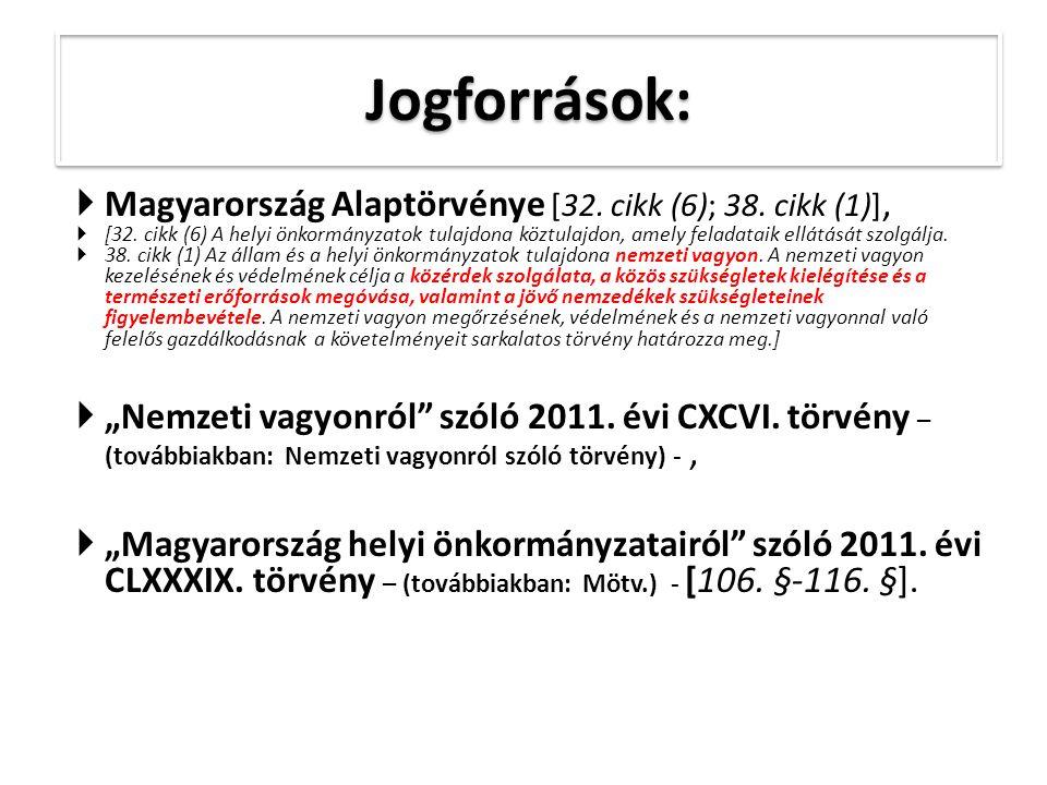  Magyarország Alaptörvénye [32. cikk (6); 38. cikk (1)],  [32.