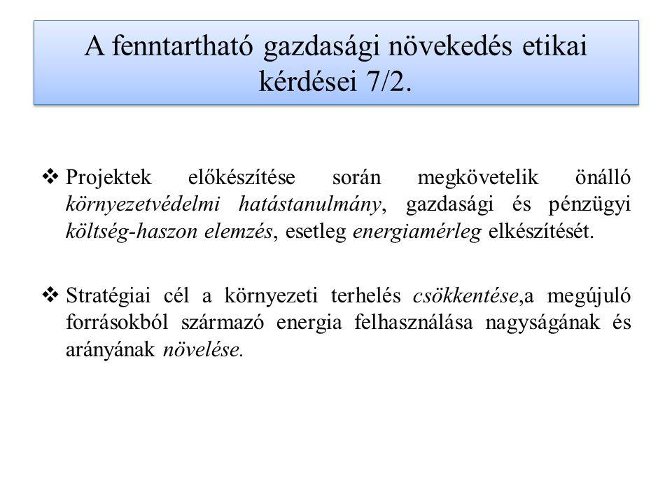 A fenntartható gazdasági növekedés etikai kérdései 7/2.