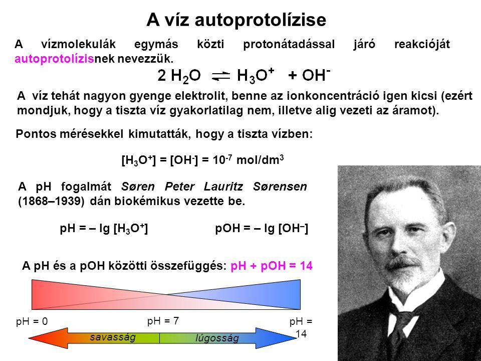 Akkumulátorsav0,5Gyomorsav1,5 – 2,0Citromlé2,4Kóla2,5Ecet2,9Sör4,5Eső<5Tej6,5Vér7,34 – 7,45Szappan9 - 10Szalmiák11,5 Néhány közismert anyag pH-ja