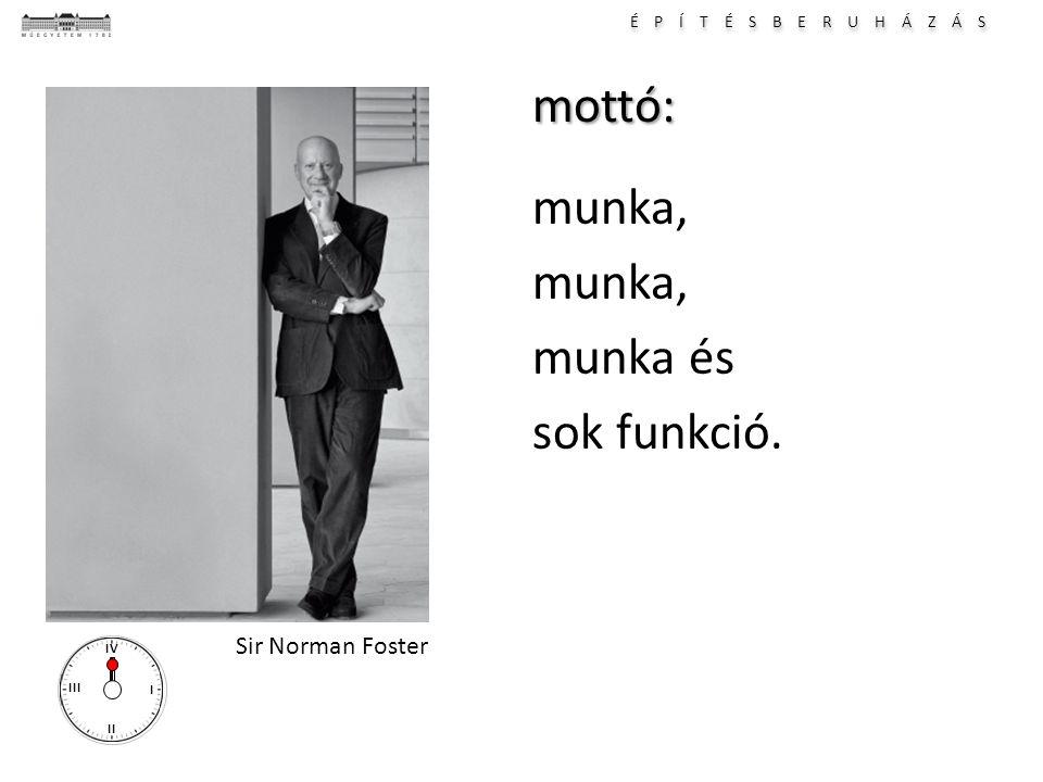 É P Í T É S B E R U H Á Z Á S I II III IVmottó: munka, munka és sok funkció. Sir Norman Foster
