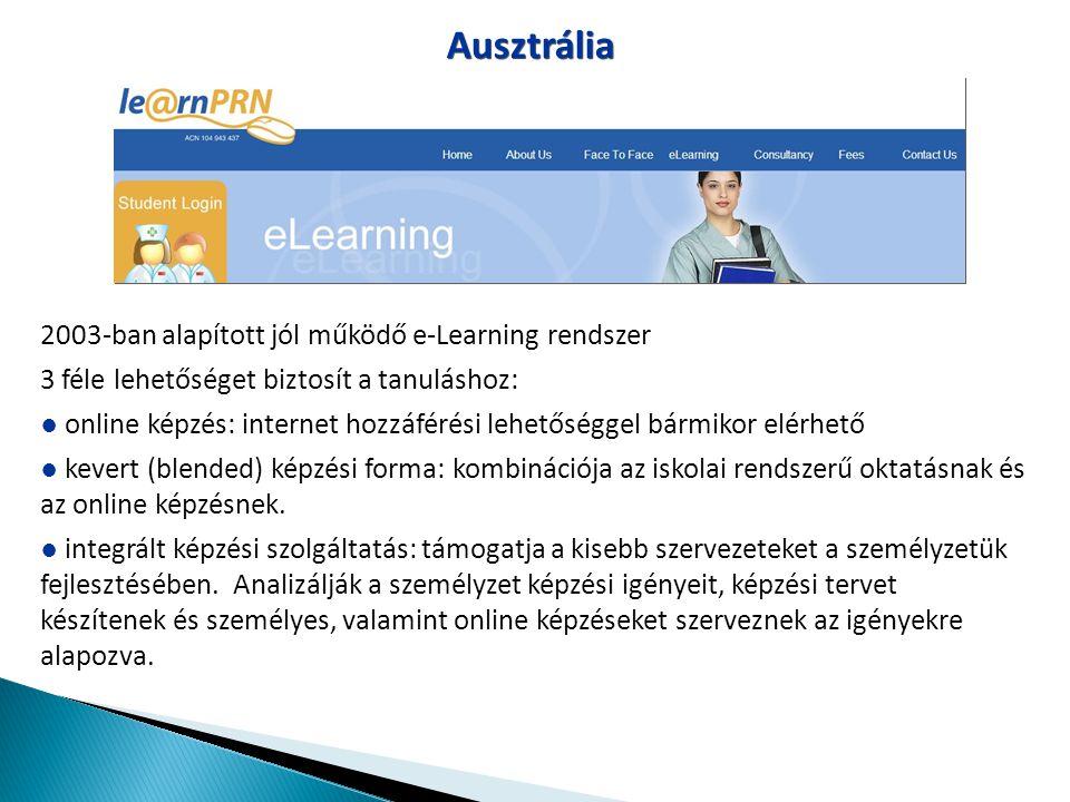 2003-ban alapított jól működő e-Learning rendszer 3 féle lehetőséget biztosít a tanuláshoz: ● online képzés: internet hozzáférési lehetőséggel bármiko