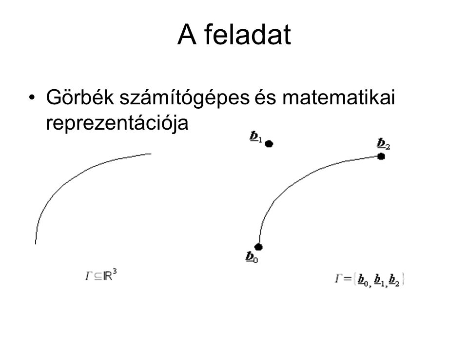 Racionális pitagoraszi hodográf görbék Ez parametrikusan az alkotó függvények segítségével a következőt adja az (x,y) koordinátákra: