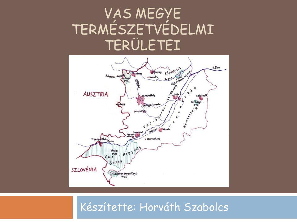 VAS MEGYE TERMÉSZETVÉDELMI TERÜLETEI Készítette: Horváth Szabolcs