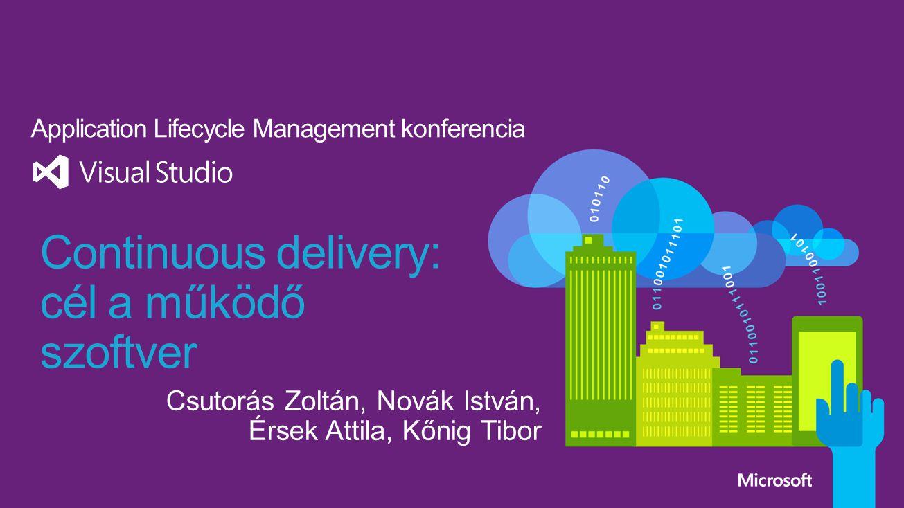Continuous delivery: cél a működő szoftver