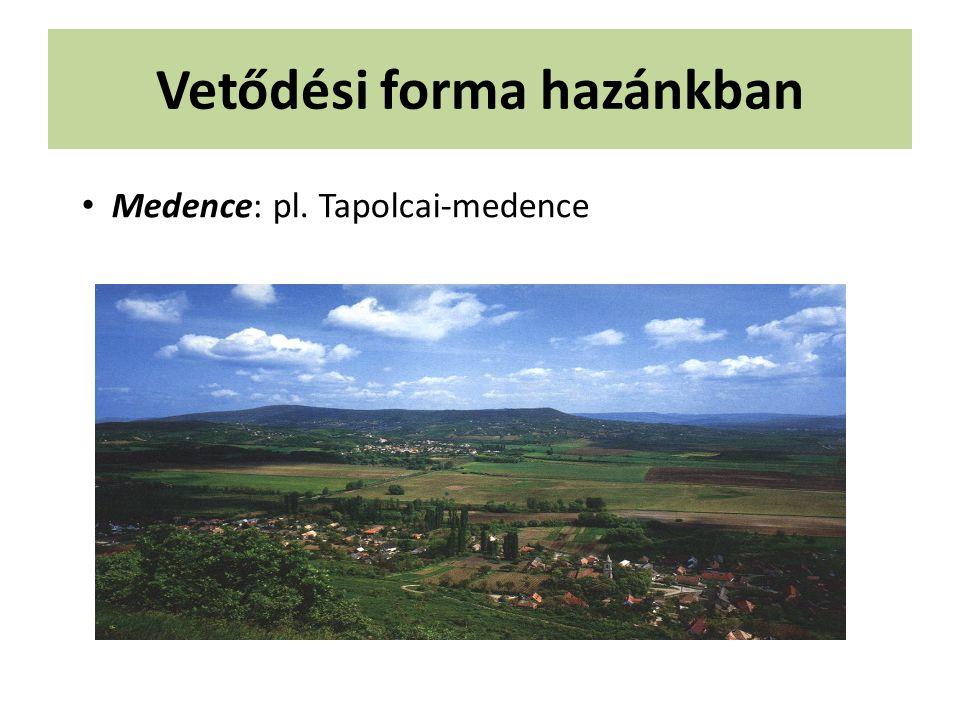 Vetődési forma hazánkban Medence: pl. Tapolcai-medence