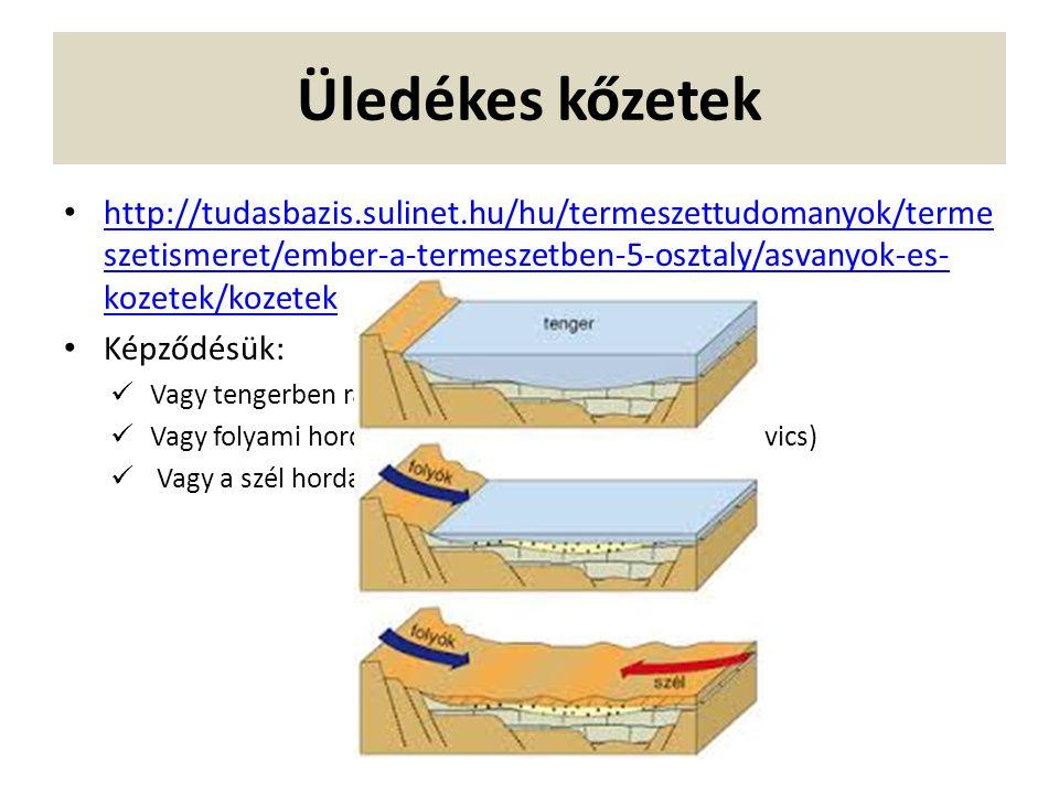 Üledékes kőzetek http://tudasbazis.sulinet.hu/hu/termeszettudomanyok/terme szetismeret/ember-a-termeszetben-5-osztaly/asvanyok-es- kozetek/kozetek htt
