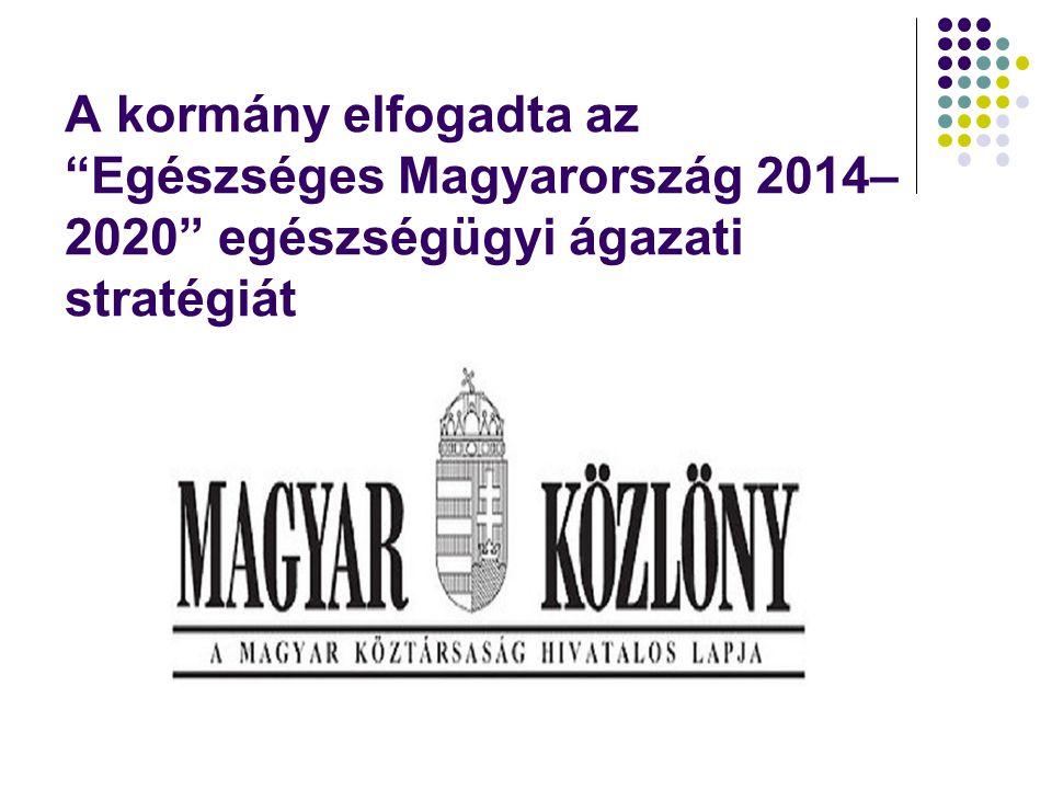 """A kormány elfogadta az """"Egészséges Magyarország 2014– 2020"""" egészségügyi ágazati stratégiát"""