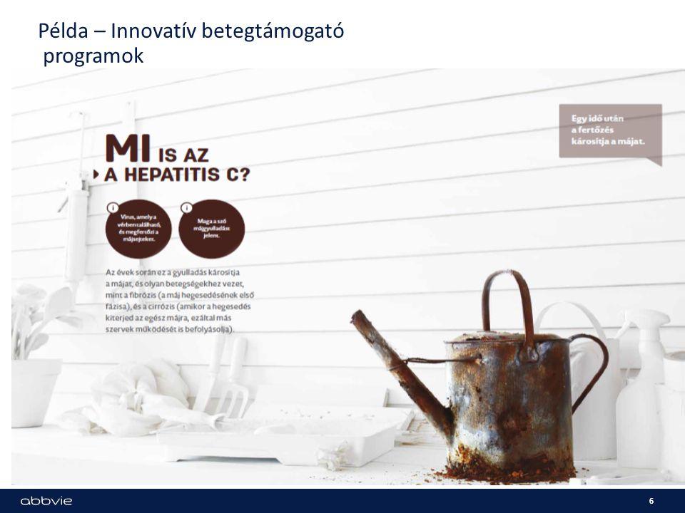 Példa – Innovatív betegtámogató programok 6
