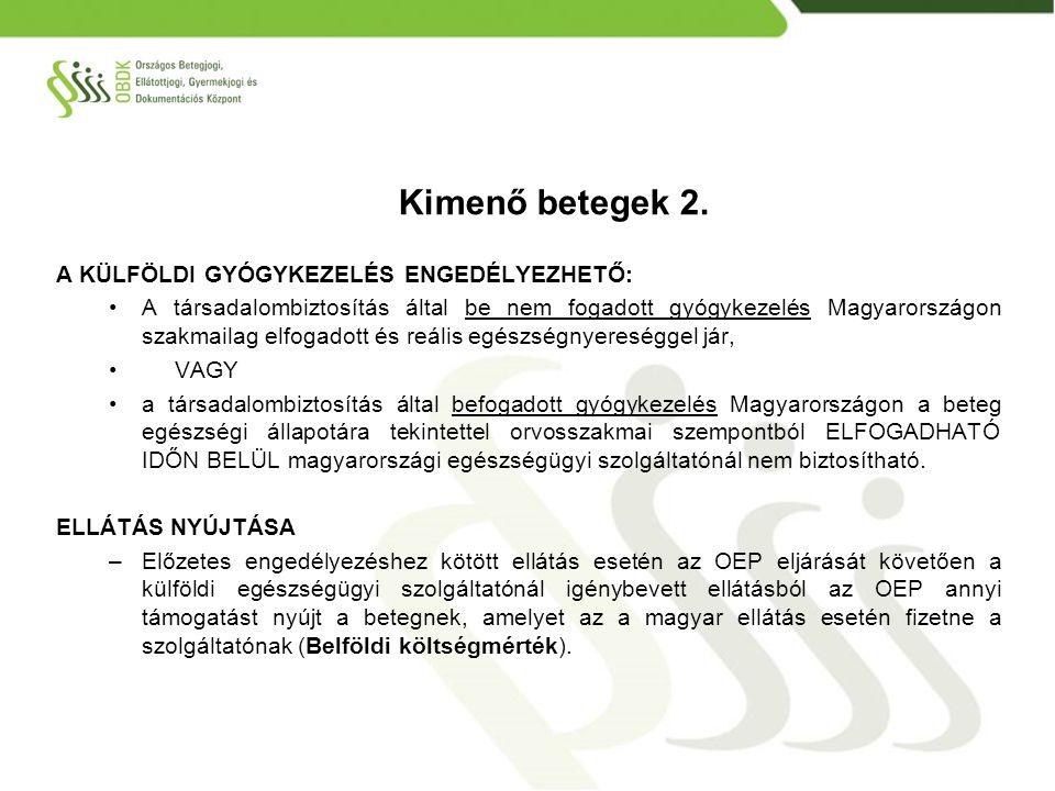 KÖLTSÉGEK ELSZÁMOLÁSA -A magyar beteg az általa választott EU tagállami szolgáltatónál maga fizet az adott tagállam szabályai szerint.