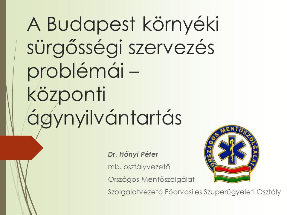 A Budapest környéki sürgősségi szervezés problémái – központi ágynyilvántartás Dr.