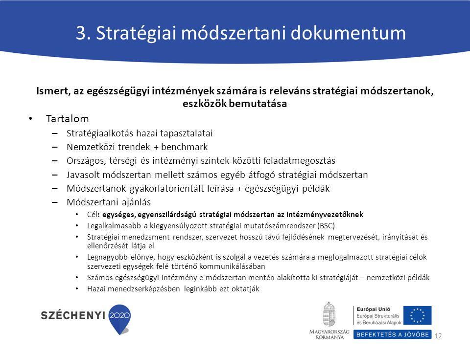 Ismert, az egészségügyi intézmények számára is releváns stratégiai módszertanok, eszközök bemutatása Tartalom – Stratégiaalkotás hazai tapasztalatai –