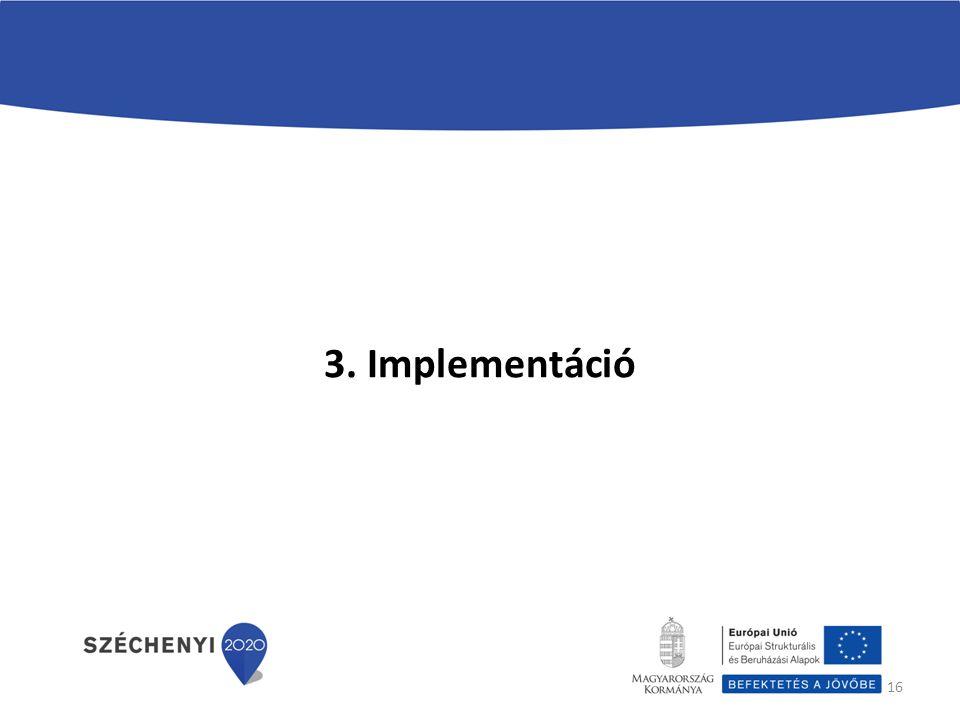 16 3. Implementáció