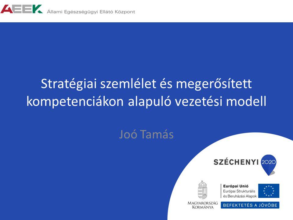 Stratégiai szemlélet és megerősített kompetenciákon alapuló vezetési modell Joó Tamás