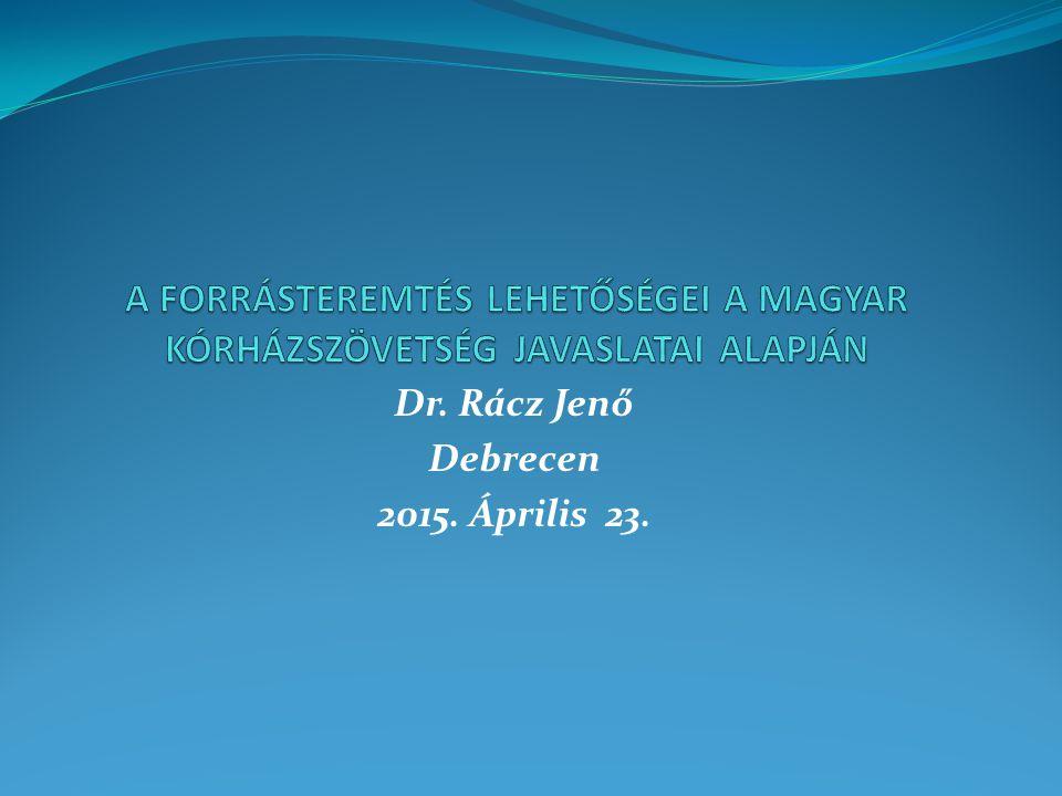 Dr. Rácz Jenő Debrecen 2015. Április 23.