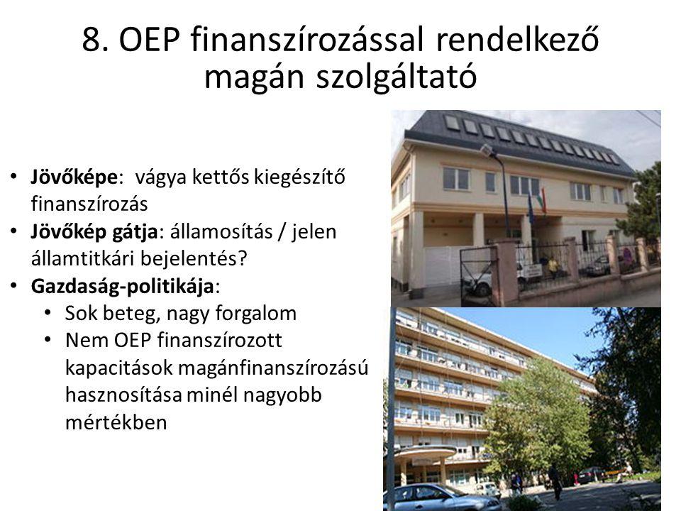Jövőképe: vágya kettős kiegészítő finanszírozás Jövőkép gátja: államosítás / jelen államtitkári bejelentés.