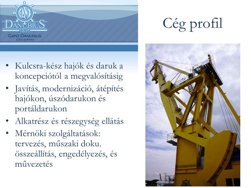 Cég profil Kulcsra-kész hajók és daruk a koncepciótól a megvalósításig Javítás, modernizáció, átépítés hajókon, úszódarukon és portáldarukon Alkatrész